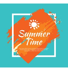 Summer banner brush painting design template vector