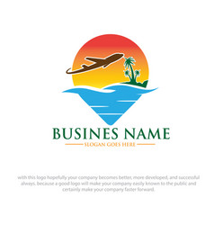 summer travel logo designs vector image