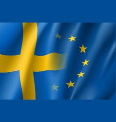 symbol sweden is eu member vector image