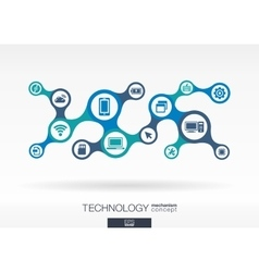 Technology growth abstract background vector