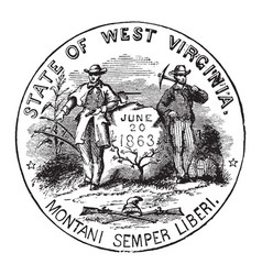 the official seal of the us state of west vector image