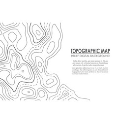 Topographic map contour background line map vector