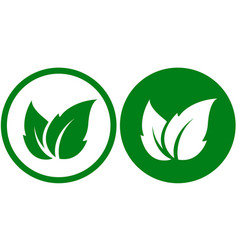 two eco icons vector image