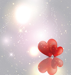 valentines day hearts background 1612 vector image