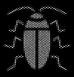 white dotted cucaracha icon vector image