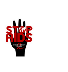 world aids day design on white background vector image