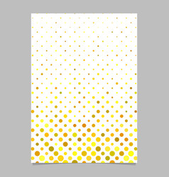 Yellow abstract circle pattern brochure vector