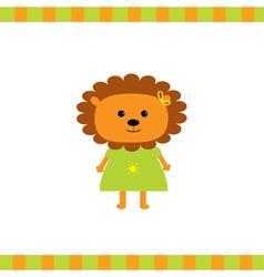 Cartoon lion girl card vector image vector image