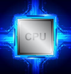 computer processor technology vector image