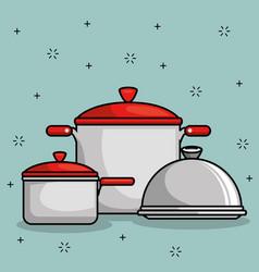 restaurant pot icon vector image