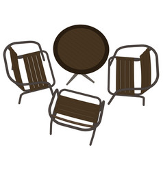 table restaurant cafe icon dinner chair romantic vector image