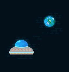 ufo flies towards earth vector image