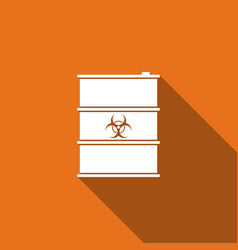 biological hazard or biohazard barrel flat icon vector image