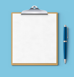 clipboard with blank paper vector image vector image