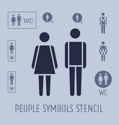 people pictogram for toilet female and male vector image vector image