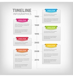 Timeline Infographics with soft gray boxes and vector image vector image