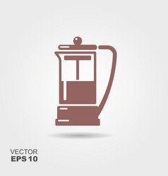 french press icon vector image