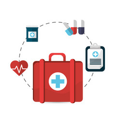 hospital suitcase tools icon vector image vector image