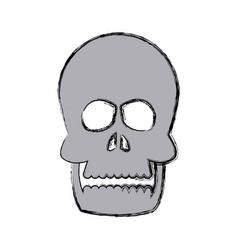 human skull bone care healthy vector image