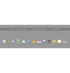 Office icons set design vector image