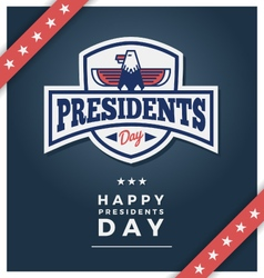 Presidents day sign on a dark blue background vector image vector image
