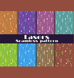 seamless patterns with laser beams background vector image vector image