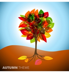 abstract autumn vector image