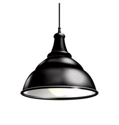 Black lamp vector