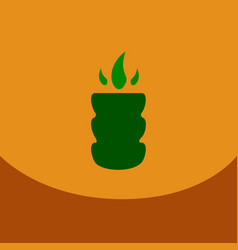 flat icon with dark shadow hookah charcoal hookah vector image vector image