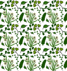 Seamless pattern of green plants vector image vector image