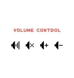 volume control set in pixel art vector image vector image