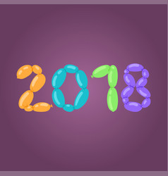 2018 happy new year text design for christmas vector image