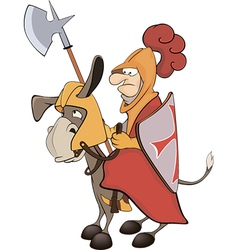 A knight and knightly donkey vector image