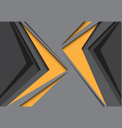Abstract yellow arrows approached gray vector