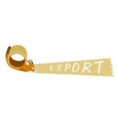 Adhesive Tape Dispenser With A Word Export vector