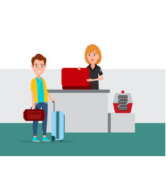Airport baggage security check vector