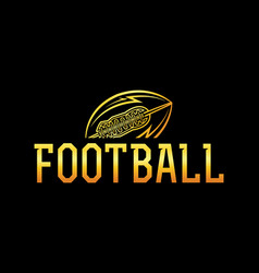 american football gold ball vector image
