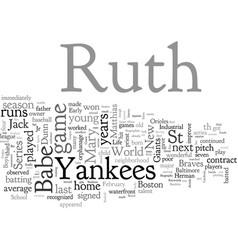 Babe ruth biography vector