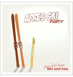 Banner ski party Apres ski vector image