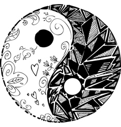 Black and white TAO symbol vector image