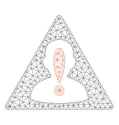 black list mesh network model vector image