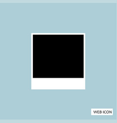 blank photo polaroid icon blank photo polaroid vector image