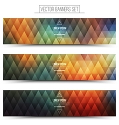Colorful Web Banners Set vector