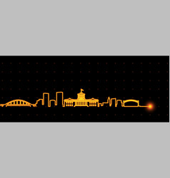 Columbus light streak skyline vector