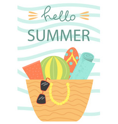 cute poster of summertime vector image