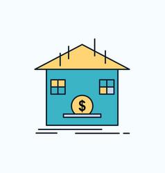 deposit safe savings refund bank flat icon green vector image