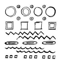 doodle style sketched frames strokes vector image