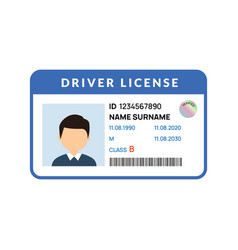 Driver licence icon id card license vector