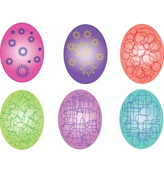 easter eggs with geometric element vector image