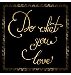 Elegant golden quote vector